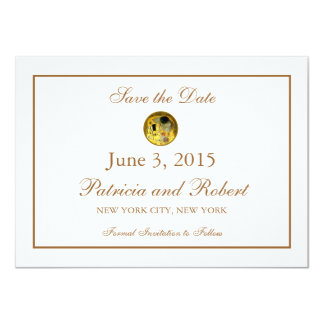 "The Kiss Gustav Klimt Wedding | Save the Date 4.5"" X 6.25"" Invitation Card"