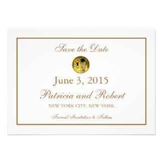 The Kiss Gustav Klimt Wedding Save the Date Personalized Announcement