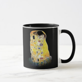 The Kiss Gustav Klimt Yellow Digital Painting Mug