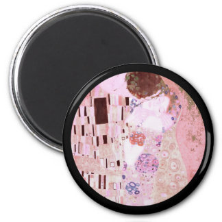 The Kiss in Pinks 2 Inch Round Magnet