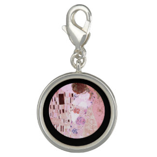 The Kiss in Pinks Photo Charm