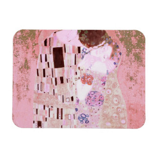 The Kiss in Pinks Rectangular Photo Magnet