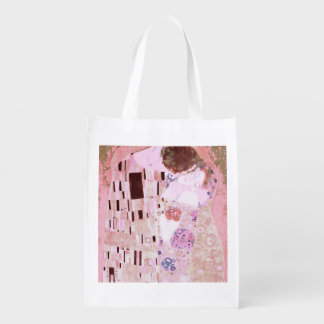 The Kiss in Pinks Reusable Grocery Bag