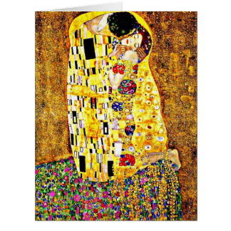 The Kiss, painting by Gustav Klimt Card