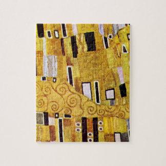 The Kiss Pattern by Gustav Klimt, Art Nouveau Jigsaw Puzzle