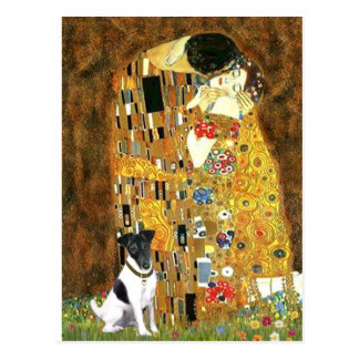 The Kiss - Smooth Fox Terrier Postcard