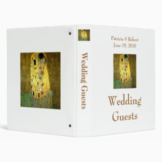 The Kiss Wedding Guest Book 3 Ring Binders