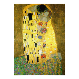 The Kiss Wedding Invitation by Gustav Klimt