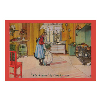 The Kitchen by Carl Larsson Fine Art Poster