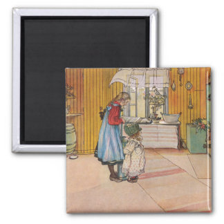 The Kitchen by Carl Larsson Scandinavian Magnet