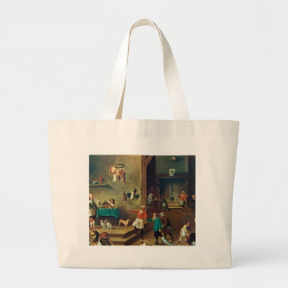 The Kitchen by David Teniers the Younger Large Tote Bag