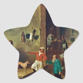 The Kitchen by David Teniers the Younger Star Sticker