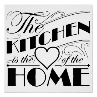 The kitchen is the heart of the home quote design perfect poster