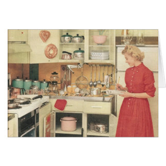 The kitchen modern - Greeting card