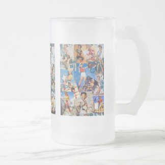 The Kitsch Bitsch : Destroyed Cowgirl Pin-Ups Frosted Glass Beer Mug