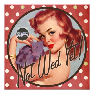 The Kitsch Bitsch : Not Wed Yet! Personalized Invitation