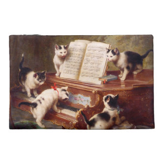 The Kitten's Recital - Vintage Cat Painting Travel Accessories Bag