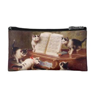 The Kitten's Recital - Vintage Cat Painting Cosmetic Bag