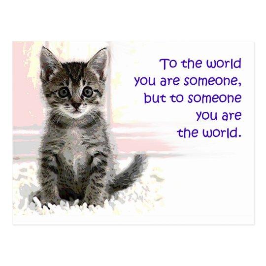 The Kitten's World Postcard