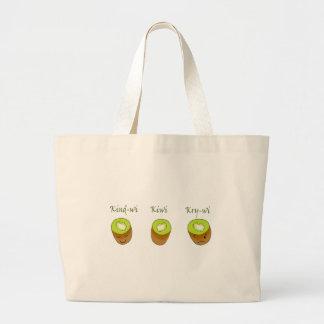 The kiwi trio large tote bag