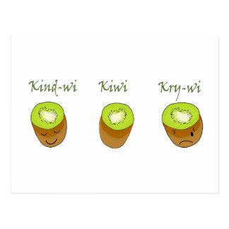 The kiwi trio postcard