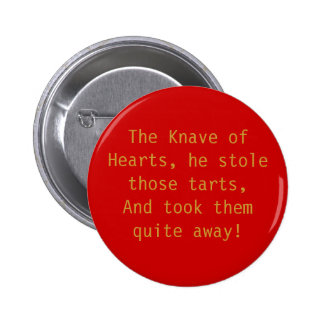 The Knave of Hearts 2 Inch Round Button