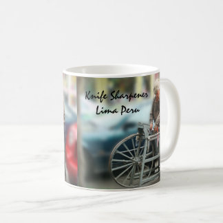 The Knife Sharpener in Lima Peru Coffee Mug