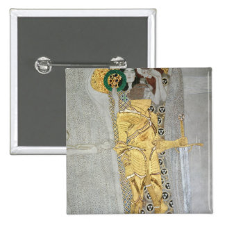 The Knight detail of the Beethoven Frieze 2 Inch Square Button