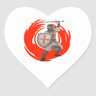 THE KNIGHTS CREED HEART STICKER