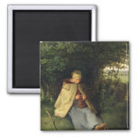 The Knitter or, The Seated Shepherdess, 1858-60 Refrigerator Magnet