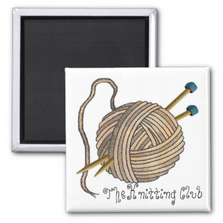 The Knitting Club Magnet