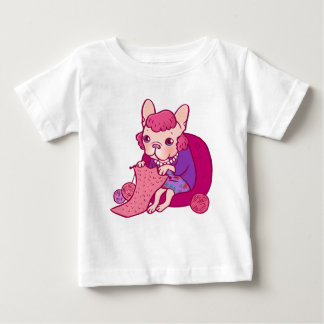 The knitting Frenchie and her scarf Baby T-Shirt