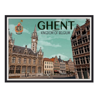 The Korenmarkt - Ghent Postcard