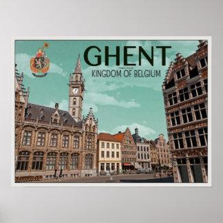 The Korenmarkt - Ghent Poster