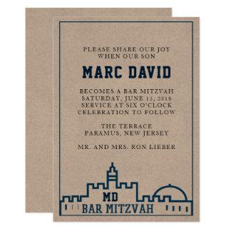 The Kotel - Kraft Bar Mitzvah Invitation