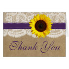 The Kraft, Lace & Sunflower Collection - Purple Card