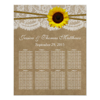 The Kraft, Lace & Sunflower Collection Seating Poster