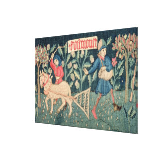 The Labours of the Months, Alsace (tapestry)Vict Stretched Canvas Prints