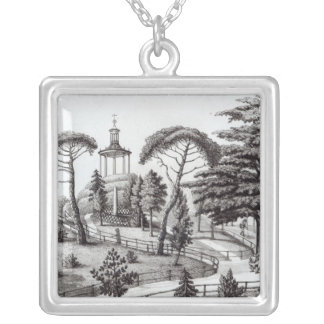 The Labyrinth from the Jardin des Plantes Silver Plated Necklace