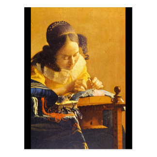 The Lace Maker', Jan Vermeer_Dutch Masters Postcard