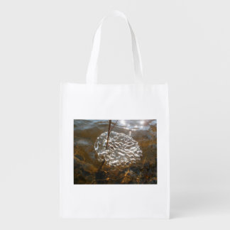 The lace of ice reusable grocery bag