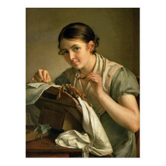 The Lacemaker, 1823 Postcard