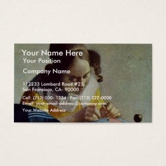 The Lacemaker, Français La Dentelière,  By Vermeer Business Card