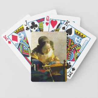 The Lacemaker, Jan Johannes Vermeer Bicycle Playing Cards
