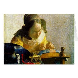 The Lacemaker, Jan Johannes Vermeer Card