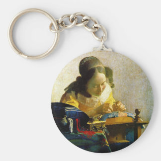 The Lacemaker, Jan Johannes Vermeer Keychain