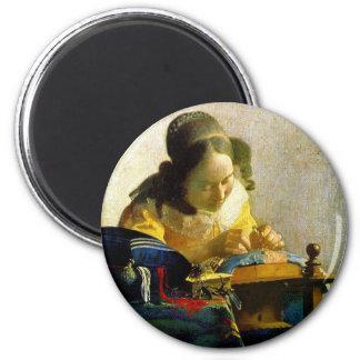 The Lacemaker, Jan Johannes Vermeer Magnet