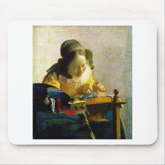 The Lacemaker, Jan Johannes Vermeer Mouse Pad