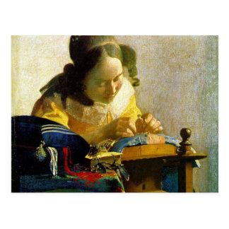 The Lacemaker, Jan Johannes Vermeer Postcard