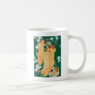 The Ladder in the Foliage, 1892 Classic White Coffee Mug